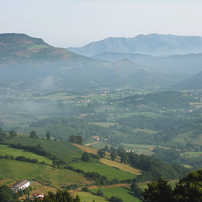 Pyrenees view over village