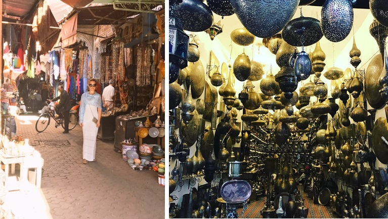 Souk shopping in Marrakech