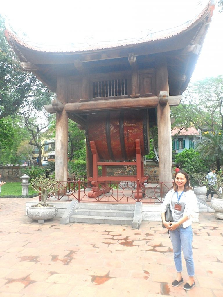 Guide Huyen in Temple of Literature