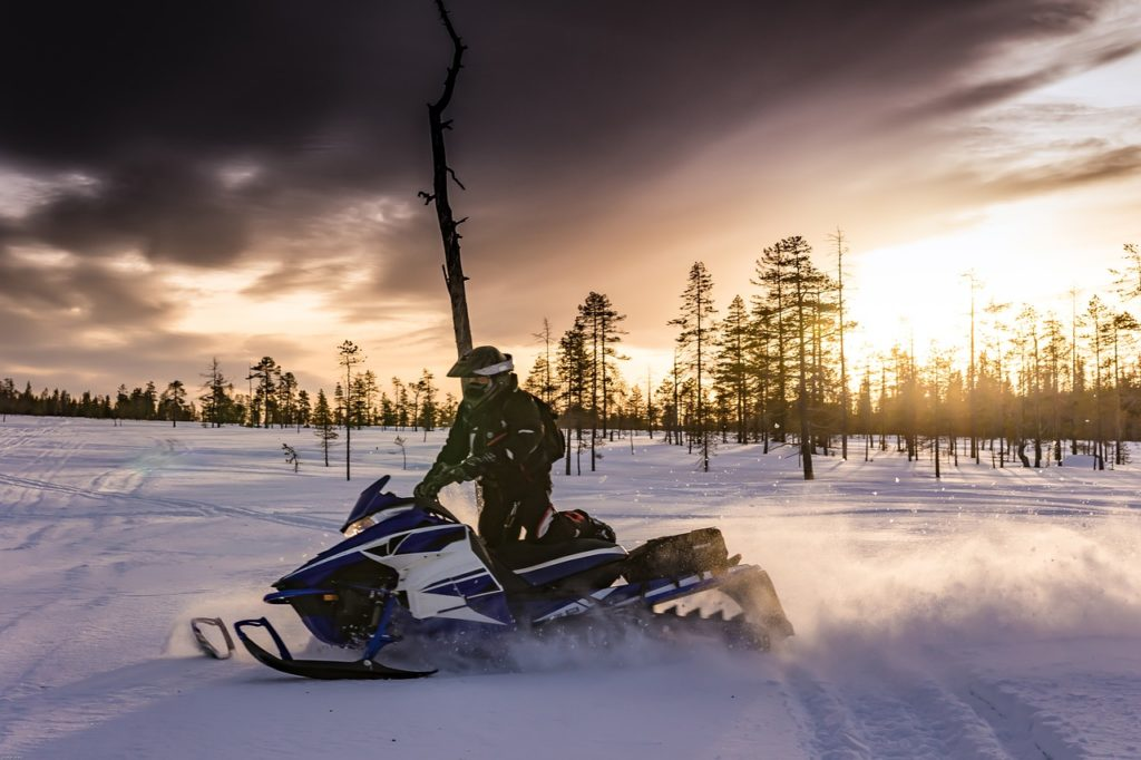snowmobiles in lapland